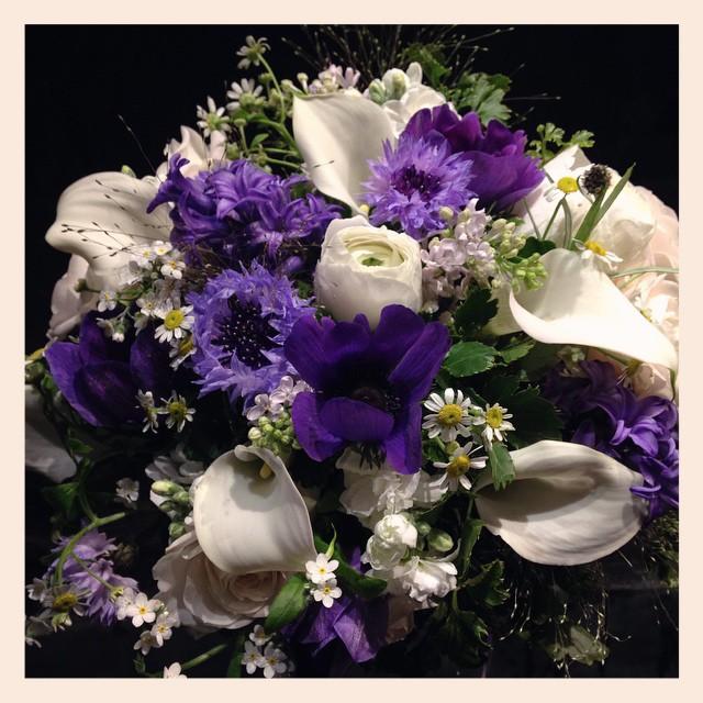 #青い花 の #花束