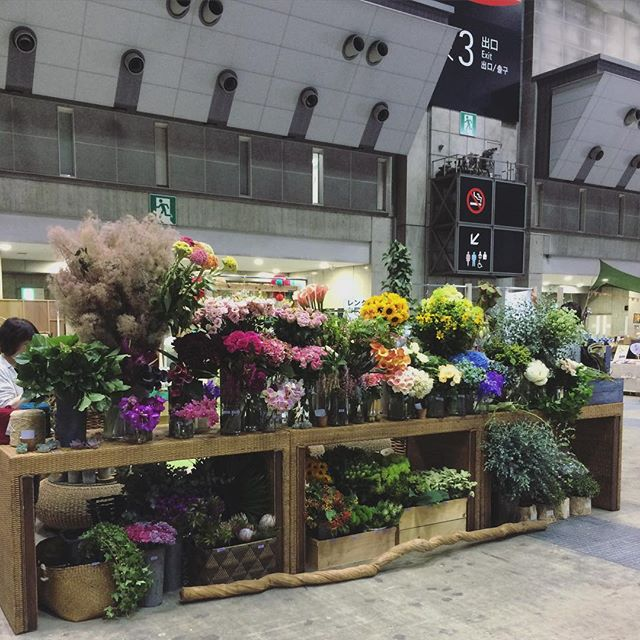 もう一週間以上も前の事ですが…ビックサイトでのお花屋さん、たくさんの方にご来店頂き、大賑わいでした。marniのイベント以来の大規模な出張お花屋さん。また機会があれば出張致します!(写真は切り花のコーナー。この他鉢もの、ドライフラワーのコーナーもありました。8m×3.5mの大きなブースでの出店でした)#ハンドメイドインジャパンフェス2016