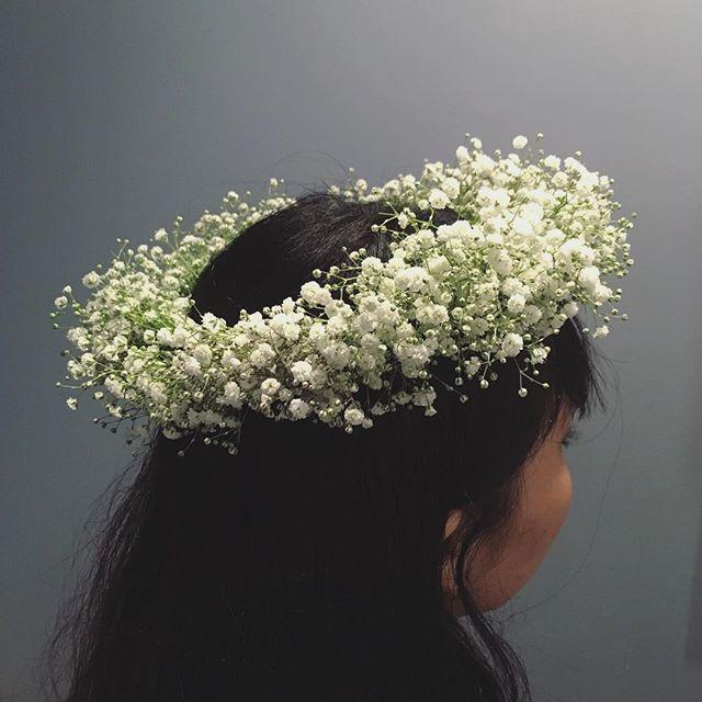 かすみ草のみの花冠