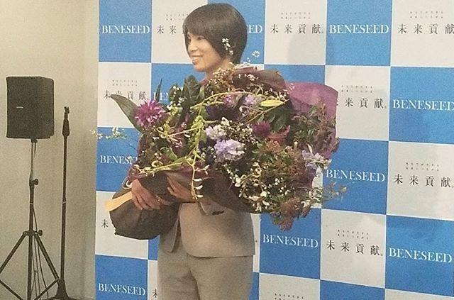 松本薫さんの引退会見の際の花束、卓上花を当店でご用意させていただきました。野獣の如くワイルドにかっこよく。だけれど、オリンピック金メダリストらしく華やかに。#sorcerydressing #ソーセリードレッシング